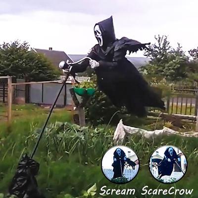 2021 New Ghostface Scarecrow Halloween Ghostface Unique Creative Scary Hanging Decoration Scream Ghostface for Garden Tree Backyard