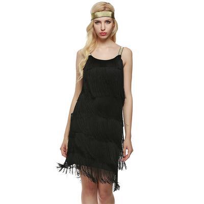2b083f77de0 Sexylady женщины ремни кистями Glam платья платье костюм Gatsby Fringe  заслонки