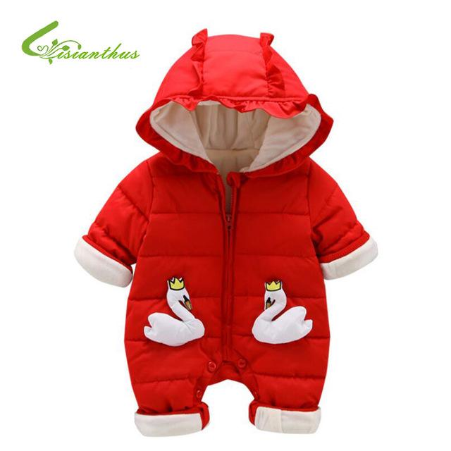 El invierno recién nacido bebé mamelucos chico chica estilo ropa ... 7c8897d7251