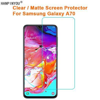 JIANGNIUS Screen Protector 25 PCS for Galaxy A70 Anti-Glare Full Screen Tempered Glass Film Color : Black Black