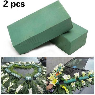 Floral Foam Brick Flower Holder Green Styrofoam Wet Foam Blocks Flower Wedding Florist DIY Crafts Supplies