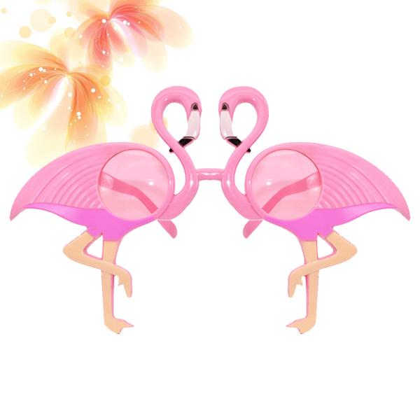 1pc Funny Hawaiian Tropical Glasses Flamingo Eye Glasses for Party