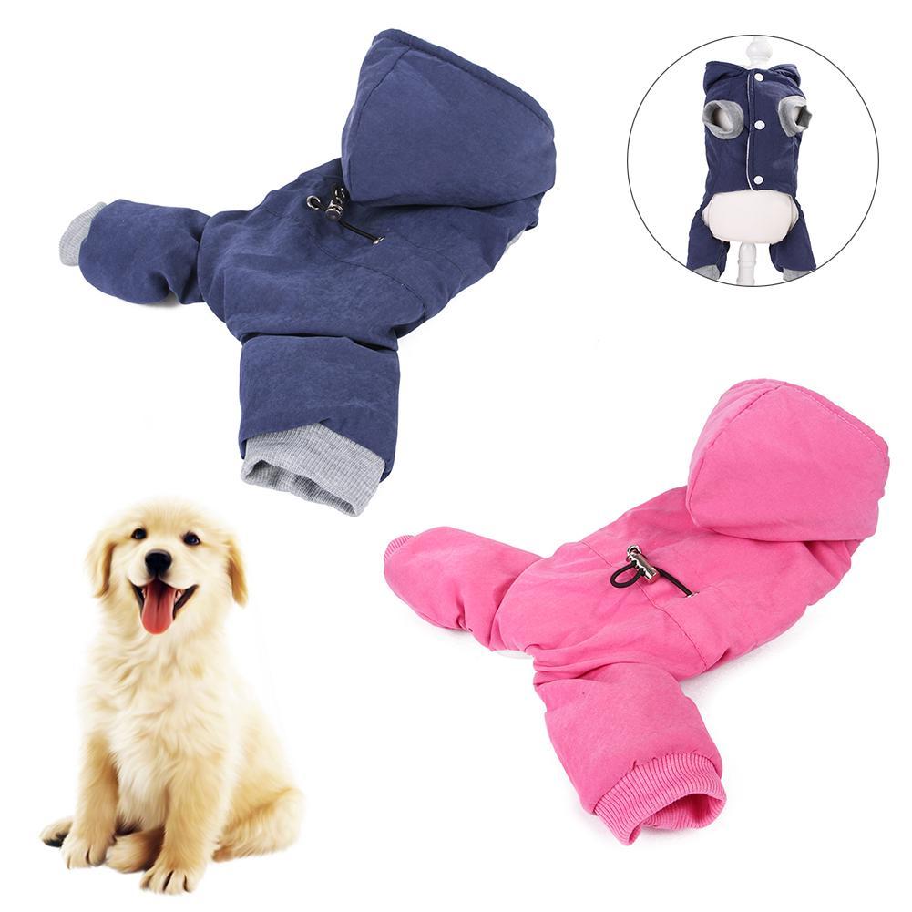 Мягкий теплый костюм для домашних животных, толстовка с капюшоном для щенка, толстый комбинезон для собак – купить по низким ценам в интернет-магазине Joom