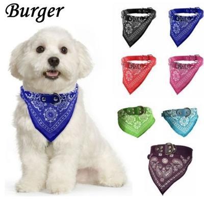 S//M//L//XL Pet Dog Triangular Neck Scarf Leather Bandana-Style Collar Neckerchief