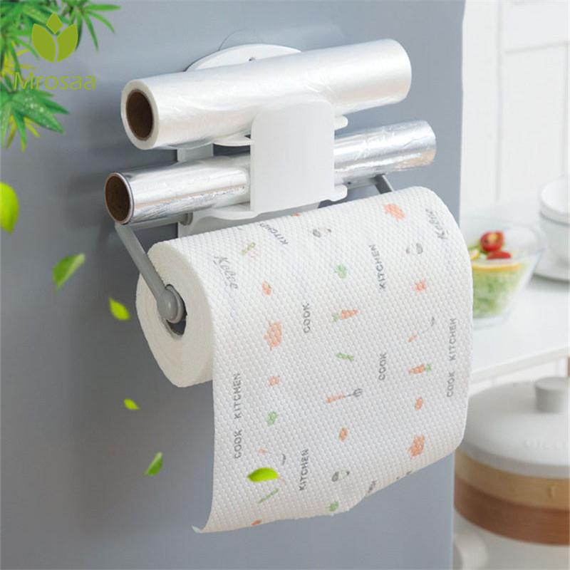 Multifunctional Wall Hanging Storage Rack Organizer Roll Paper Towel Holder Stand For Kitchen Bathroom Mount Buy At A Low Prices On Joom E Commerce Platform
