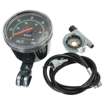 Analog Bicycle Speedometer Odometer Resettable Classic Style ForExercycle Bike J
