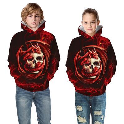Kid Toddler Baby Girl Boy 3D Print Christmas Hooded Tops Sweatshirt Clothing Hot