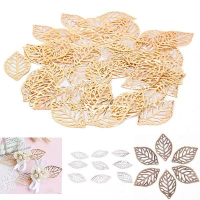 100X Hollow Water Drop Shape alloy Pendant DIY Hair Accessories Making Material