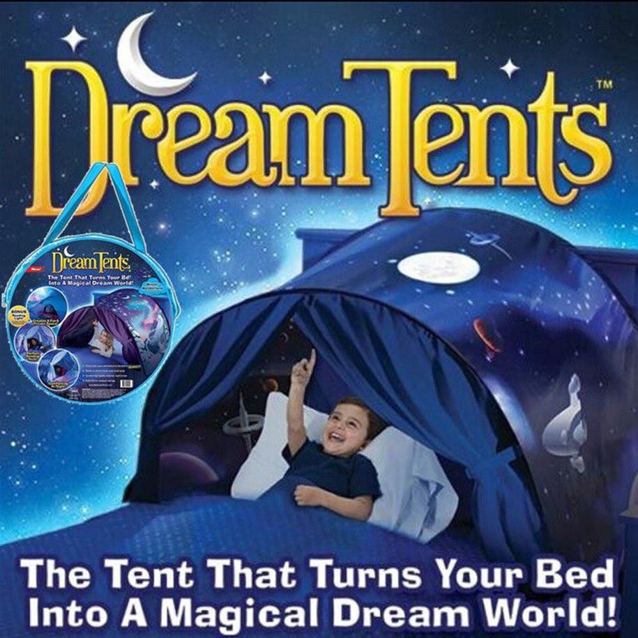 Kids Dream Tents Baby Pop Up Bed Tent Unicorn Foldable Playhouse Night Sleeping