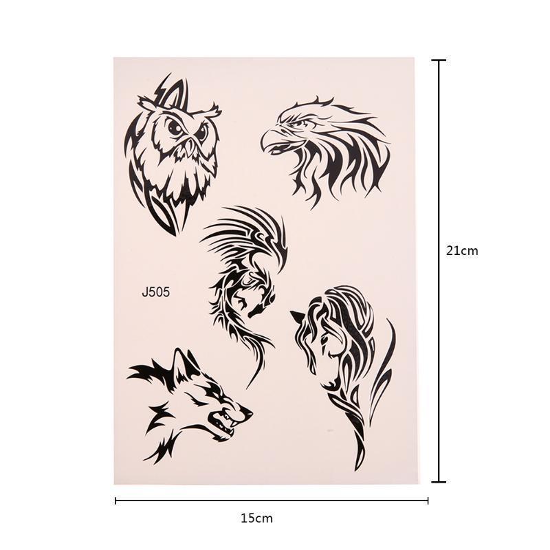 1 Pc Wodoodporna Fałszywe Tymczasowe Tatuaże Naklejki Wzór Druku Tatuaż Naklejki