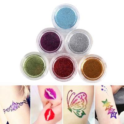 Powder paints various colours sparkles also available