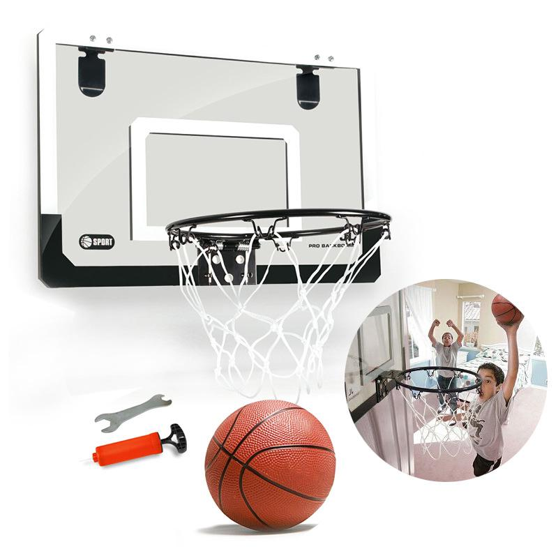Mini Basketball Set Toy Kids Portable Basket Ball Hoop Home Door Office Hanging