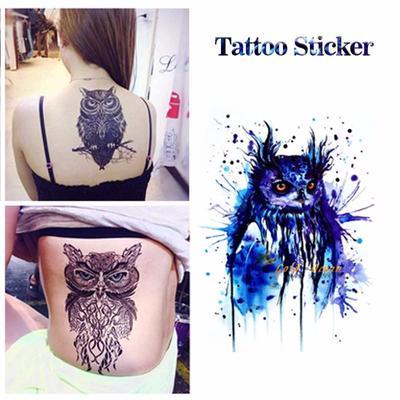 80d3adf6fc6c6 Owl Temporary Tattoo Body Art Flash Tattoo Stickers Waterproof Fake Tattoo