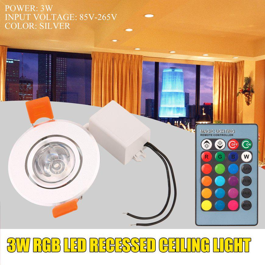 3w Rgb Led Recessed Ceiling Light Spotlight Downlight Lamp No Uv Or Ir Ihf Buy At A Low Prices On Joom E Commerce Platform