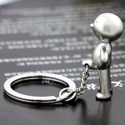 Novelty Cute Cow Keyring Keychain Bag Charm Gift in Black With Gift Bag