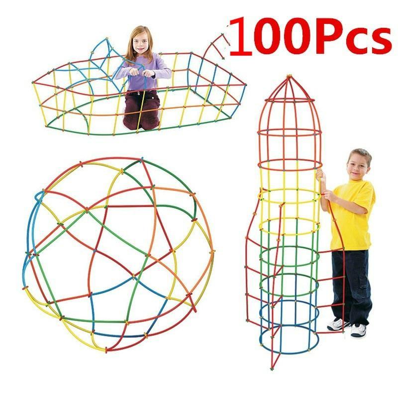 100 пластиковых блоков для детского творчества фото
