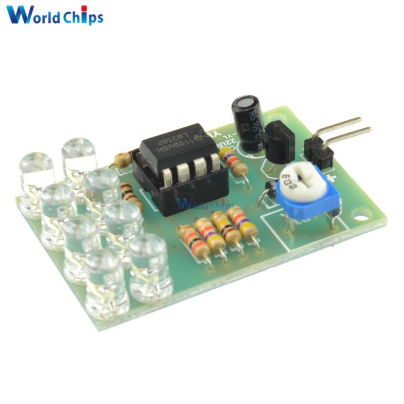 2PCS 12V Breathe Light LED Flashing Lamp Parts Electronic DIY Module LM358 Chip