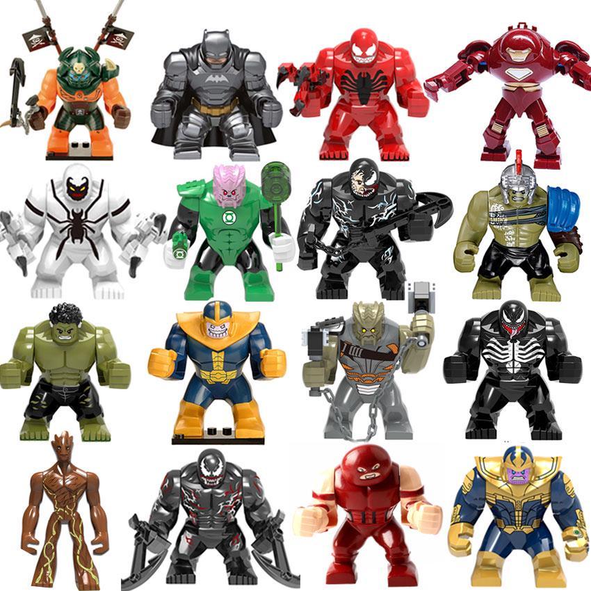 Большой размер Marvel Халк Venom Carnage Бунт Обсидиан Зеленый Фонарь Танос Блок Цифры Игрушка Дети Подарок фото