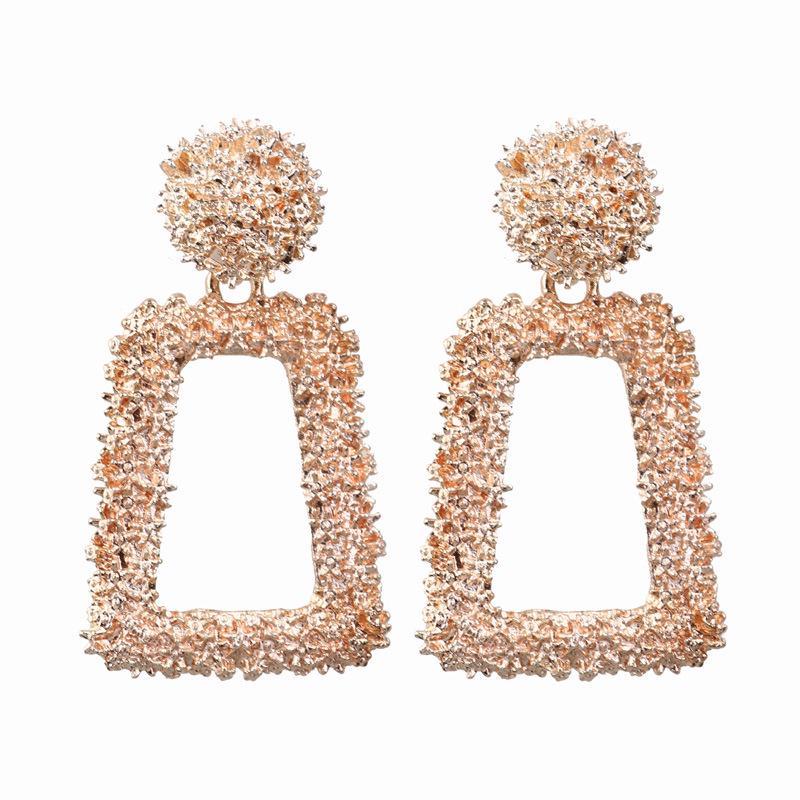 Or Déclaration Boucles d/'Oreilles Creux Balle Géométrique Femmes Round Drop Pearl Boucles D/'oreilles
