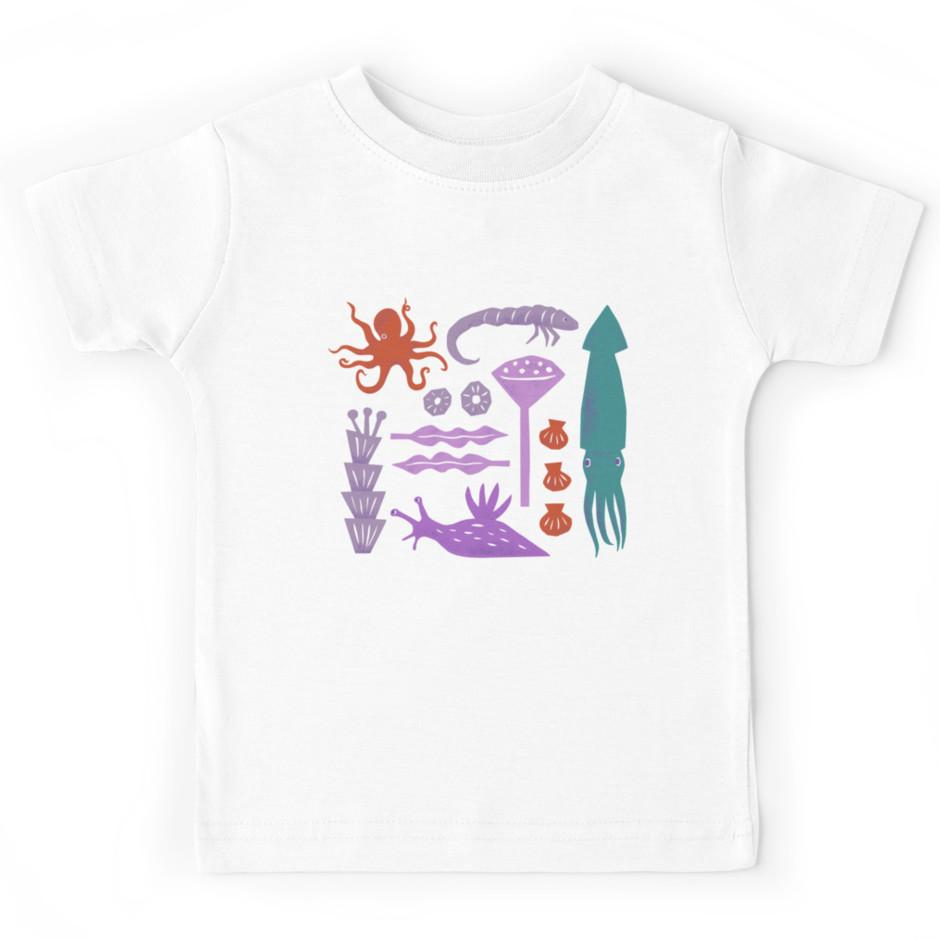 Unisex Infant Fashion Tee Squid Rocket T-Shirt