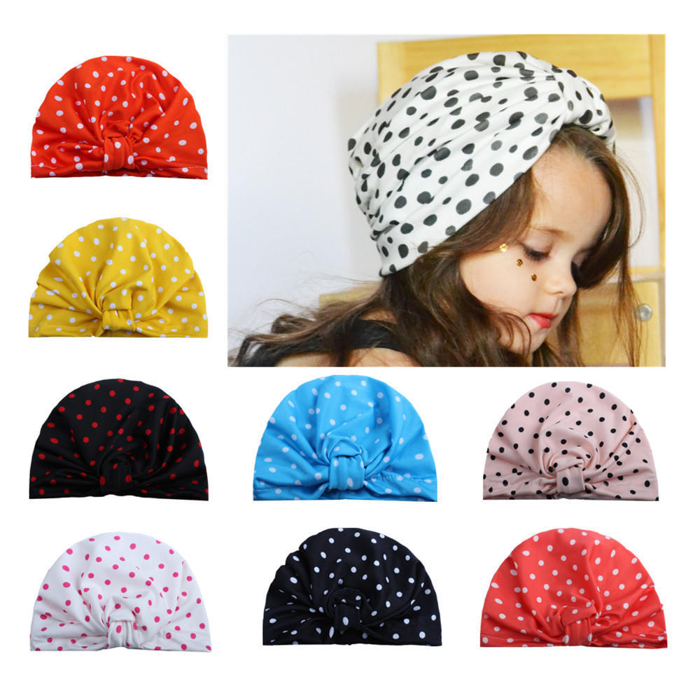 Children Baby Girls Knitting Baby Hats Turban Head Wrap Cap Pile Cap Newborn Photography Props Knit Cap