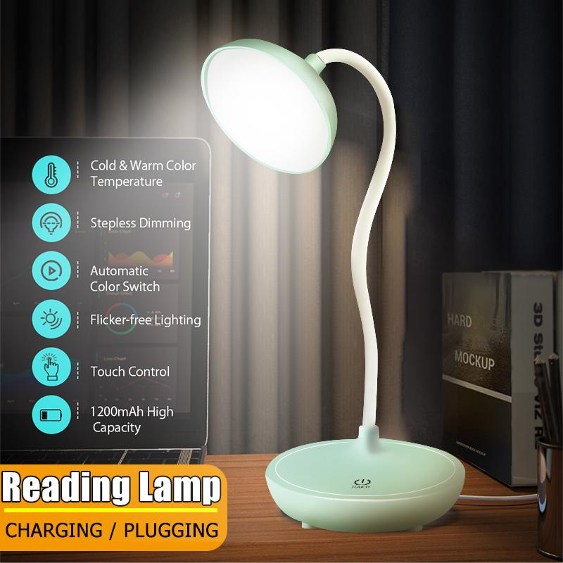 Leds Eye Protect Light Table Lamp, Bedside Lamp With Dimmer Switch