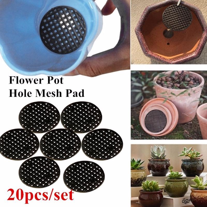 10PCS Flower Pot Mesh Pad Practical Plant Drainage Screen Bonsai Bottom Grid Mat