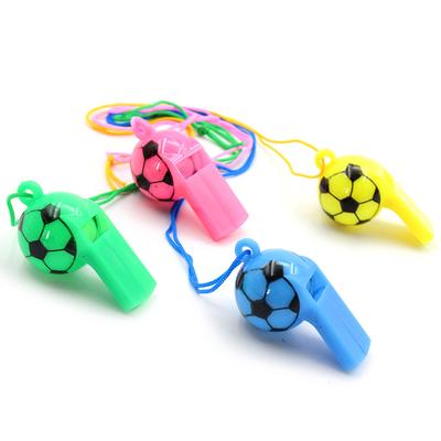 25pcs Plastic Colorful Whistle Football Cheerleading Referee Whistle Kids Sports Whistle Toy for Sports Outdoor Activity Random Color
