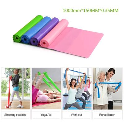 1m Yoga Stretch Band Elastic Band Fitness Men Women Resistance Band Strength Training Stretch Band
