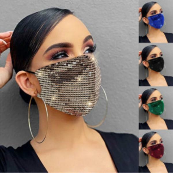 Женщины Мода блестки дыхательные мытье и многоразовые рот маска – купить по низким ценам в интернет-магазине Joom
